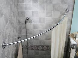 image of best curved shower curtain rod