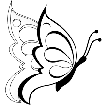 Simple Flower Coloring Page With Butterfly For Kids L