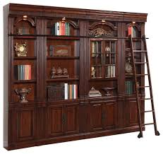 4 piece wellington library bookcase insert wall unit mahogany