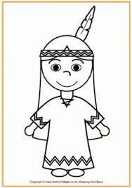 thanksgiving pilgrim girl coloring pages. Delighful Girl Native American Girl Colouring Page Throughout Thanksgiving Pilgrim Coloring Pages