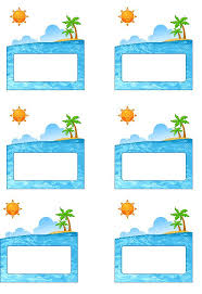 beach labels for party snacks summer beach party pool party palm tree free printable name tags