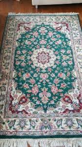 4x6 oriental rugs 6 hand knotted rug wool rectangle oriental carpet green unbranded 4 x 6
