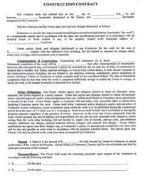 Sample Construction Contract Construction Company Contract Template Sample Construction