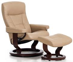 stressless president paloma sand leather recliner chair and ottoman by ekornes