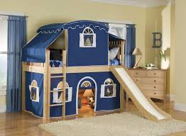 childrens beds with slides. Children Bunk Bed With Slide: Kids Beds Stairs And Desk Optional Tent Tower Childrens Slides W
