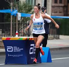 kieffer in last year s new york city marathon courtesy of new york road runners