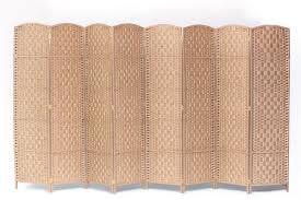natural color furniture. Room Divider 8 Panel Diamond Weave Paper Fiber Natural Color Furniture