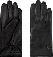 Black Leather Gloves for Women Lambskin - Ivy – Schwartz & von Halen