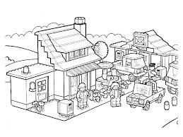 Lego ninjago golden dragon under attack! Lego City Printable Coloring Pages Coloring Home