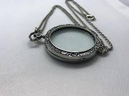 vintage silver tone magnifying glass