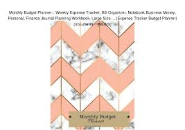 Monthly Budget Planner Weekly Expense Tracker Bill Organizer Not