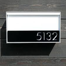 modern wall mount mailbox the modern mailbox by on mid century modern wall mount mailbox
