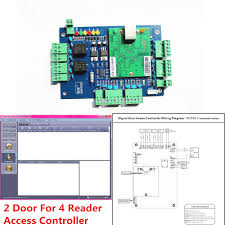 online buy whole access panel from access panel original wg2052 tcp ip network access control board panel controller for 2 door can be