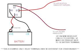 r1 blowing headlight fuse page 3 custom fighters custom heres a quick diagram but as i said the terminals be different for your relay