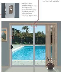 sliding door with soft and self closing mechanism portfolio