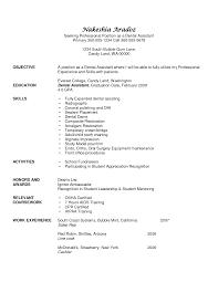 Sample Dental Assistant Resume Objectives Free Resume Samples