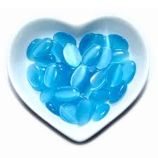 Free Shipping 20 <b>Pieces</b> / <b>Lot</b> Blue <b>Natural</b> Stone Beads Oval Flat ...