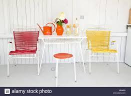 50er Jahre Stühle Und Tisch Stockfoto Bild 127589877 Alamy