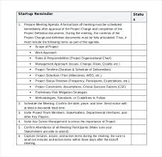Simple Checklist Template Project Management Checklist Template Hafer Co
