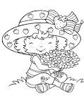 Раскраски девочка-клубничка
