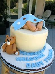 Baby Shower Cakes For Boy Baby Boy Ideas Non Fondant Baby Shower