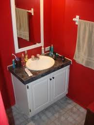 Fine Red Bathroom Color Ideas Dramatic O And Creativity Design