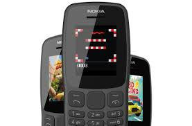The Nokia 106 feature phone has a 1.8 ...