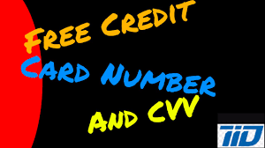 how to get free credit card number and cvv you