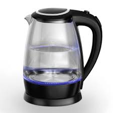 elegance glass electric kettle with blue led