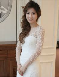 luxury lace mermaid wedding dress 2016 full sleeves vestido de noiva beading real images bridal gowns in wedding dresses from weddings events on