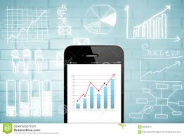 Chart Mobile Plan Smart Phone And Business Chart Stock Photo Image Of