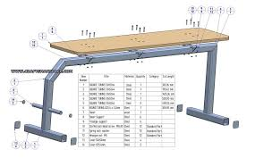 flat bench press plan bench parts list