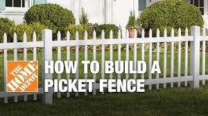 white picket fence. How To Build A Spaced Picket Fence White Picket Fence P