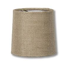 natural burlap chandelier shade mini retro drum hardback