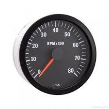 vdo vdo vision black 8000 rpm 4 inches tachometer 12v 333 160 vdo vision black tachometer gauge 333 160