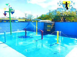 splash pad kits the gym of new transformed into outside pool area my water park diy