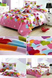 adorable heart shape pattern 4 piece cotton kids duvet cover sets add a sweet childrens duvet