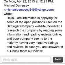 employment reviews company the bettinger company inc employment agencies 1515 market st