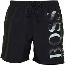 Hugo Boss Swim Shorts Size Chart Details About Hugo Boss Mens Octopus Branded Swim Shorts In Black Bnwt