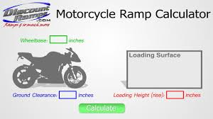 using the motorcycle ramp calculator