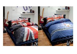 rock uk quilt set catherine lansfield union jack guitar modern bed