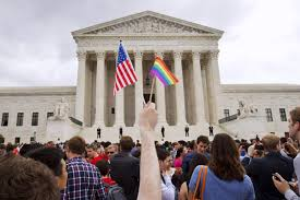 supreme court rules gay marriage is a nationwide right wsj the crowd celebrates outside the supreme court in washington d c after hearing the gay