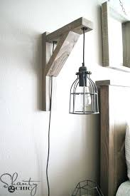 perfect bedroom wall sconces. Bedroom Lamp Build This Rustic Corbel Light Sconce For Creative But Perfect Wall Ideas Sconces P