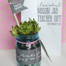 diy succulent mason jar teacher gift with free printables