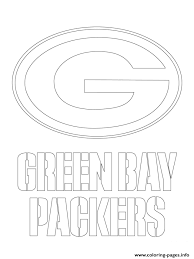 Green Bay Packers Logo Football Sport Coloring Pages Printable