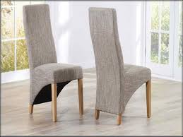 Dining Room Marco Oak Tweed Fabric Dining Chairs Earthy Colours