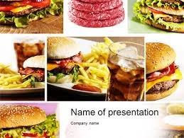 Food Presentation Template Fast Food Set Presentation Template For Powerpoint And