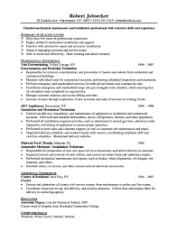 Resume Maintenance Supervisor Resume
