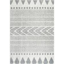 nuloom shaina tribal grey 8 ft x 10 ft area rug