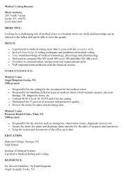 ... Sweet Inspiration Medical Coding Resume Samples 6 Coding Resume ...